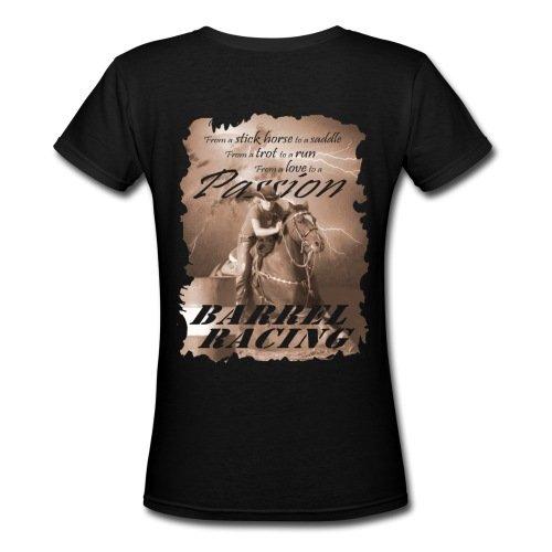 Spreadshirt Women's Barrel Racing Passion T-Shirt, black, XXL