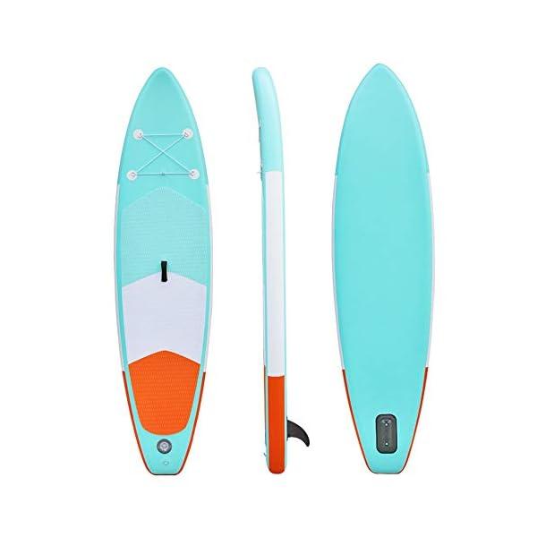 Stand Up Paddel Gonfiabile Double Layer gonfiabile SUP Stand Up Paddle Board con Paddle Carry Bag Kit di riparazione e… 6 spesavip