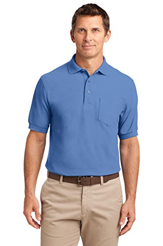 Port Authority Tall Silk Touch Polo With Pocket  Ultramarine Blue  X Large Tall