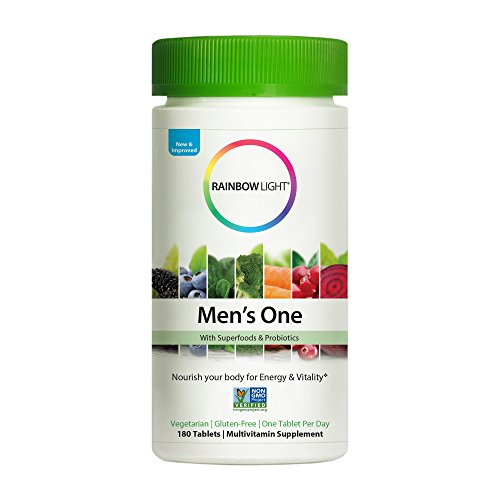 s One Multivitamin Non-GMO Bonus Size - Plus Superfoods, Probiotics, and Plant-Source Enzymes; Vegetarian and Gluten Free - 180 Tablets ()