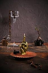Candellana Candles 5902650675711 Middle Finger Candellana- Middle Finger Candle-Gold,Gold