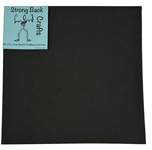 25 Pack- Black Self-Stick Adhesive Foam Sheets 10