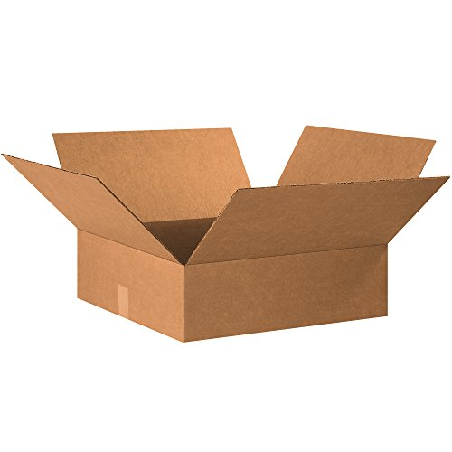 """BOX USA B20206 Flat Corrugated Boxes, 20""""L x 20""""W x 6""""H, Kra"""