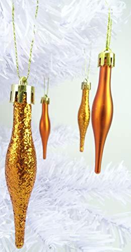 Christmas Concepts Paquete de 15-8.5cm Adornos con gotitas - Diseño Mate y Brillante - Adornos navideños (Cobre)