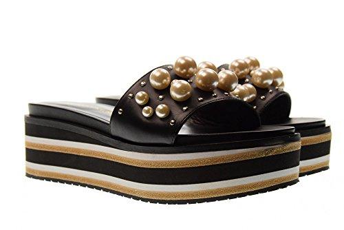 Zapatillas de con Mujer Negro Negro R4501X Plataforma Bruno PREMI 75wqx1EvxR