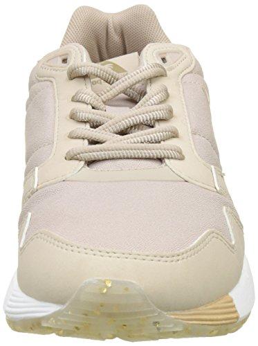 Le Coq Sportif Dames Metallic Maanlicht Bruine Omega Xw Sneakers