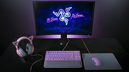 Razer Kitty Ears For Kraken Headsets Compatible With Kraken 2019 Kraken Te Headsets Adjustable Strraps Water Resistant Construction Quartz Pink