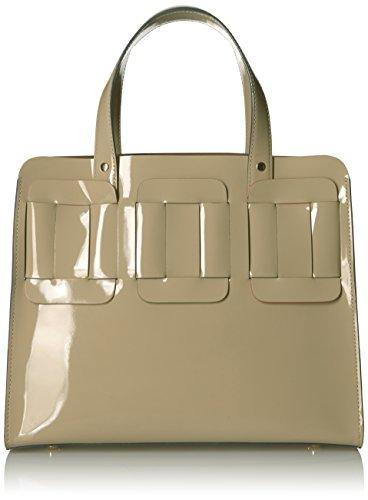 Orla Kiely Glass Leather Linked Margot Bag, Cream by Orla Kiely