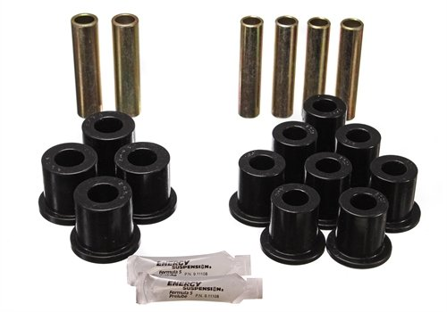 Energy Suspension 42114G Bushings - Ford Full-Size Pickup 1980 - 1996 Complete Rear Spring/Shackle ()