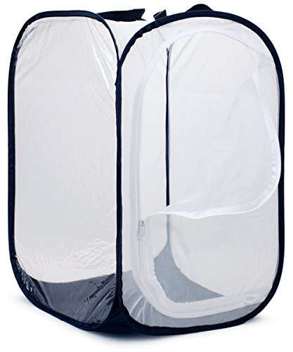 """Restcloud 36"""" Large Butterfly Habitat Pop-up, Collapsible Giant Butterfly Cage Terrarium - Raise Monarchs on Milkweed Plants 24"""" x 24"""" x 36"""" Tall"""