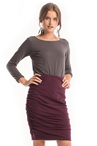 Kyra Skirt in Fig - Synergy Organic Clothing