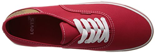 Levis Mens Jordy Buck Mode Sneaker Rouge / Marron