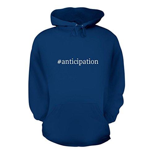 #anticipation - A Nice Hashtag Men's Hoodie Hooded Sweatshirt, Blue, Medium