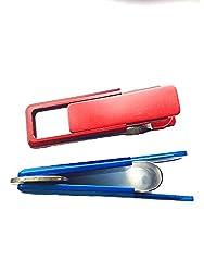 HONB Smart Money Clip, Novelty Money Clip, Credit Card Holder with Easy Press Function (Blue)