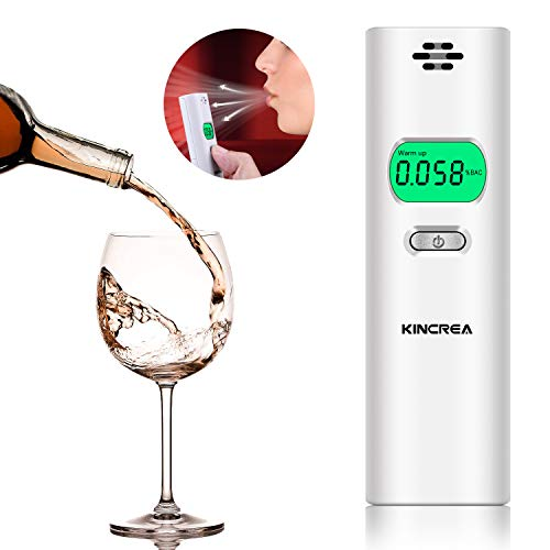 KINCREA Professional Digital Breathalyzer, Portable Breath Alcohol Tester JR020