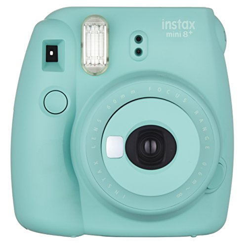 Fujifilm Instax Mini 8+ (Mint) Instant Film Camera + Self Shot Mirror for Selfie Use – International Version (No Warranty)