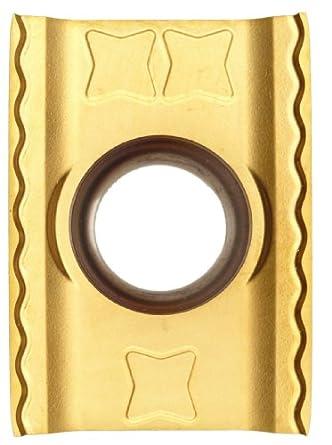 "Sandvik Coromant LONG EDGE CUTTER  Carbide Milling Insert, LDHT Style, Rectangular, GC1025 Grade, TiAlN Coating, LDHT190400ML,0.187"" Thick, 0.008"" Corner Radius (Pack of 10)"