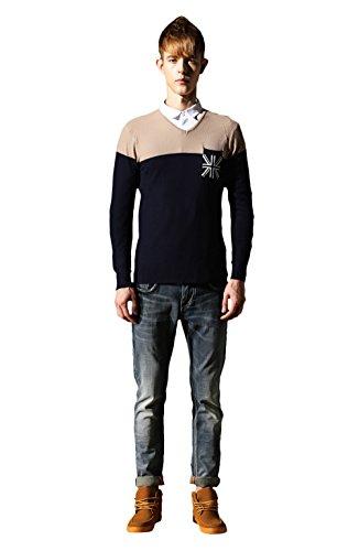 Bakeboy Men Fashion Slim Fit V Neck Pure Cotton Knitwear Sweater