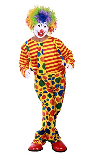 [Honeystore Unisex Circus Cute Clown Outfit Couple Jester Funny Halloween Costume] (Couples Costumes Funny)