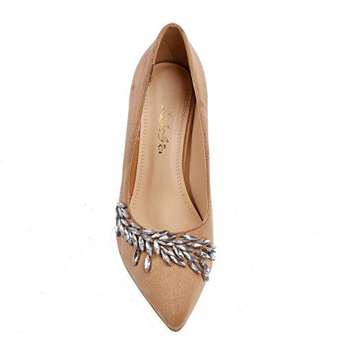 Dongya 3 Colors Womens 100mm Heel Fashion Pump Shoes Pzu8FXXCwe