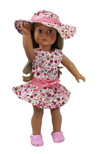 Dress Along Dolly 3 Piece Flower Sun Dress for American Girl Dolls