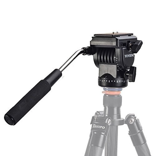 Pingzi Pro YT-950 Tripod Action Fluid Drag Head + Universal Camera Remote Control + Flexbile Mini Tripod with Phone Mount for DSLR Shooting Filming Video Camera Tripod Monopod