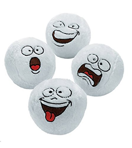 Price comparison product image Plush Snowballs with Fun Faces (1 Dozen)