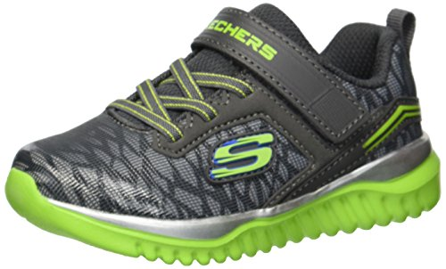 Skechers Kids Boys' Turboshift-Ultraflector Sneaker,Charcoal/Lime,10 Medium US ()