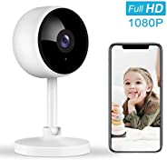 Indoor Security Camera, Littlelf 1080P Home Wifi Wireless Camera with 2-Way Audio Night Vision Motion Detectio