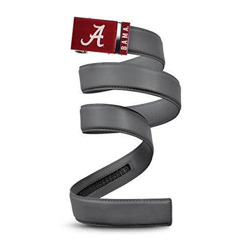 NCAA Alabama Crimson Tide Mission Belt, Gray Leather, Extra Large (up to 42) ()