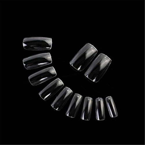 500 Stück Klar DIY Französisch Acryl Künstlich UV-Gel Falsch Gefälscht Nagel-Kunst Spitzt Kosthemik 10 Größen