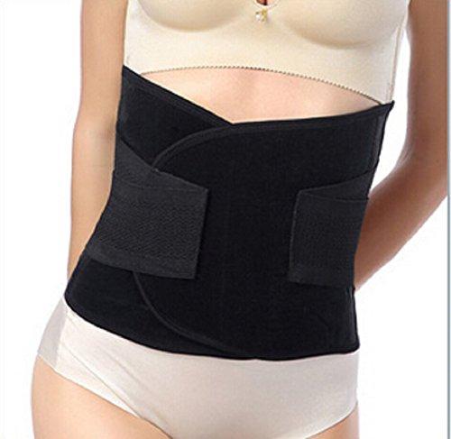 ZUOYETYK Professional schwarz Atmungsaktiv Elastisch Abdomen Gürtel und Beckengürtel für Frauen Nach Geburt und Re-Shaping Slimming Belt (M)