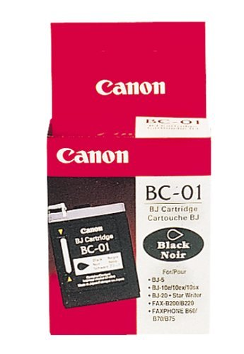 3 EACH: Canon BC-01 Inkjet Cartridge (F45-0014-410, Black) Canon Bc 20 Black Cartridge