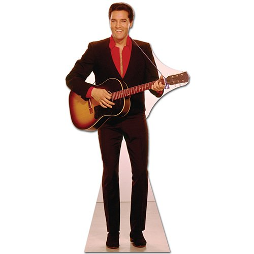 Elvis Presley Cardboard Cutout Standup Red Shirt with Guitar (Elvis Stand Up)