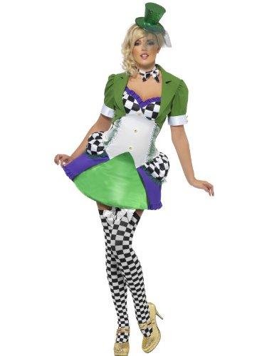 Smiffy's Fever Women's Miss Mad Hatter Costume (Medium,