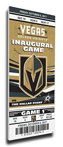 Vegas Golden Knights Commemorative Inauguralゲームキャンバスメガチケット