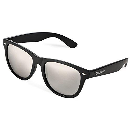 Vintage Gafas Revo marco Reflectante espejo de de Sol Duduma negro de Wayfarer plata de lente Espejo UV400 Lentes Unisex Colors con wqvxqY4