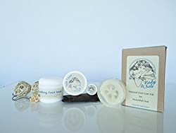 Body & Sole Foot Care Kit for Healthy Feet by RM Lifestyle is Guaranteed for Your Satisfaction using the Highest Quality of Natural Ingredients for Skin Care for Men and Women. This Pedicure Product will Leave Your Feet Looking and Feeling Baby Soft and Perfect. Made by hand in the USA, the Good Old-fashioned Way. Our Creations are Blends of the Highest Quality, Finely Ground Sea Salt & Pure Essential Oils. Salts are Packaged Within Minutes of Being Made to Maintain Freshness.