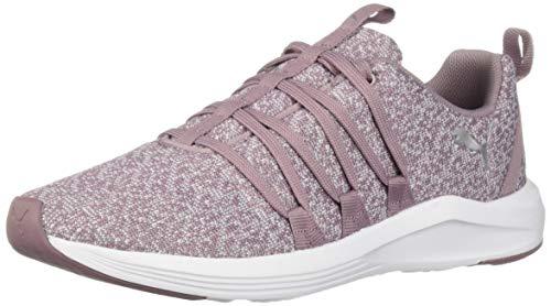 PUMA Women's Prowl Alt Knit Sneaker, Elderberry Silver, 8.5 M US (Puma Shoes Purple Womens)