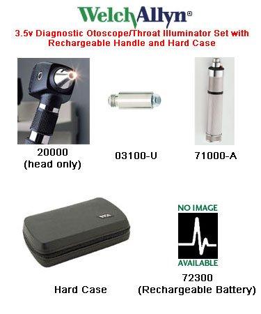 (W-A25270M - Welch-allyn Otoscope Set with MacroView Otoscope by Welch Allyn)