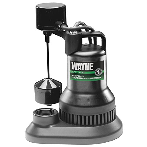 WAYNE WSF50 1/2 HP Thermoplastic Sump Pump With Vertical Float Switch by Wayne