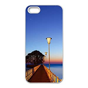Personalized Creative Cell Phone Case For iPhone 6 plus 5.5,glam blue sky and sea and long bridge