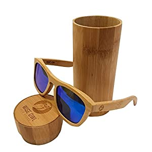 Unisex & 100% Bamboo Wood POLARIZED Sunglasses | Eco-Friendly & Sturdy Wayfarer