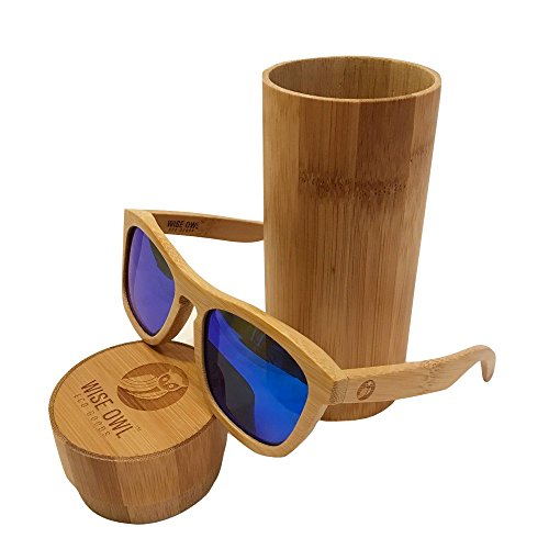 Unisex & 100% Bamboo Wood POLARIZED Sunglasses | Eco-Friendly & Sturdy Wayfarer