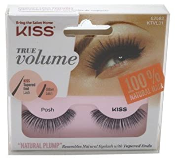 b059ce8529a Amazon.com : Kiss True Volume Natural Plump Lash - Posh : Beauty