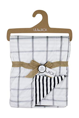 Lila and Jack Soft Baby Blanket - Soft Minky Blanket Perfect, Crib Blanket, Baby Car Blanket & More. Plush Blanket Perfect for Newborns and Toddlers (Checker Mink)...