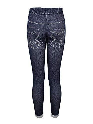 Crush Kids Denim Look Seamless Legging With Rhinestones Navy Size (Rhinestone Girls Jeans)