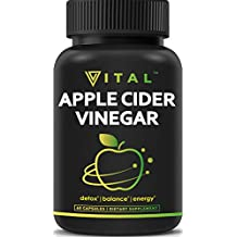 Extra Strength Apple Cider Vinegar Pills – All Natural Weight Loss, Detox, Digestion & Circulation Support – Powerful Cleanser, Premium-Non-GMO Cider Capsules
