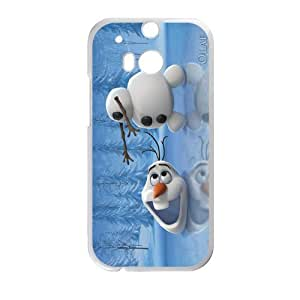 DAZHAHUI Frozen Snowman Olaf Cell Phone Case for HTC One M8