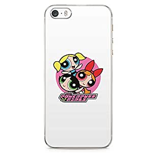 Loud Universe Power Puff Girls Classic Cartoon iPhone 5 / 5s Case Cute Sticker Style iPhone 5 / 5s Cover with Transparent Edges